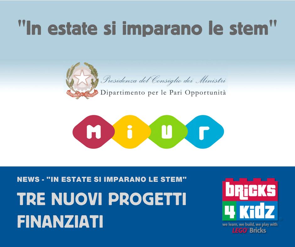 """""""IN ESTATE SI IMPARANO LE STEM"""" – Tre Progetti Ammessi A Finanziamento"""