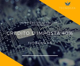 Credito D'imposta Al 40% Per La Formazione 4.0