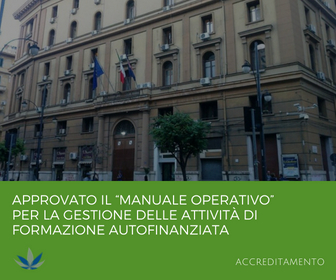 """Approvato Il """"Manuale Operativo"""" Per La Gestione Delle Attività Di Formazione Autofinanziata – Regione Campania"""