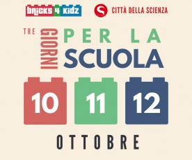 """Bricks4kidz® Silver Sponsor Dell'evento """"Tre Giorni Per La Scuola"""" A Città Della Scienza"""